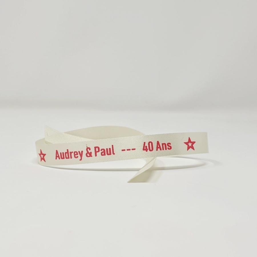 Bracelet tissu personnalisé pas cher