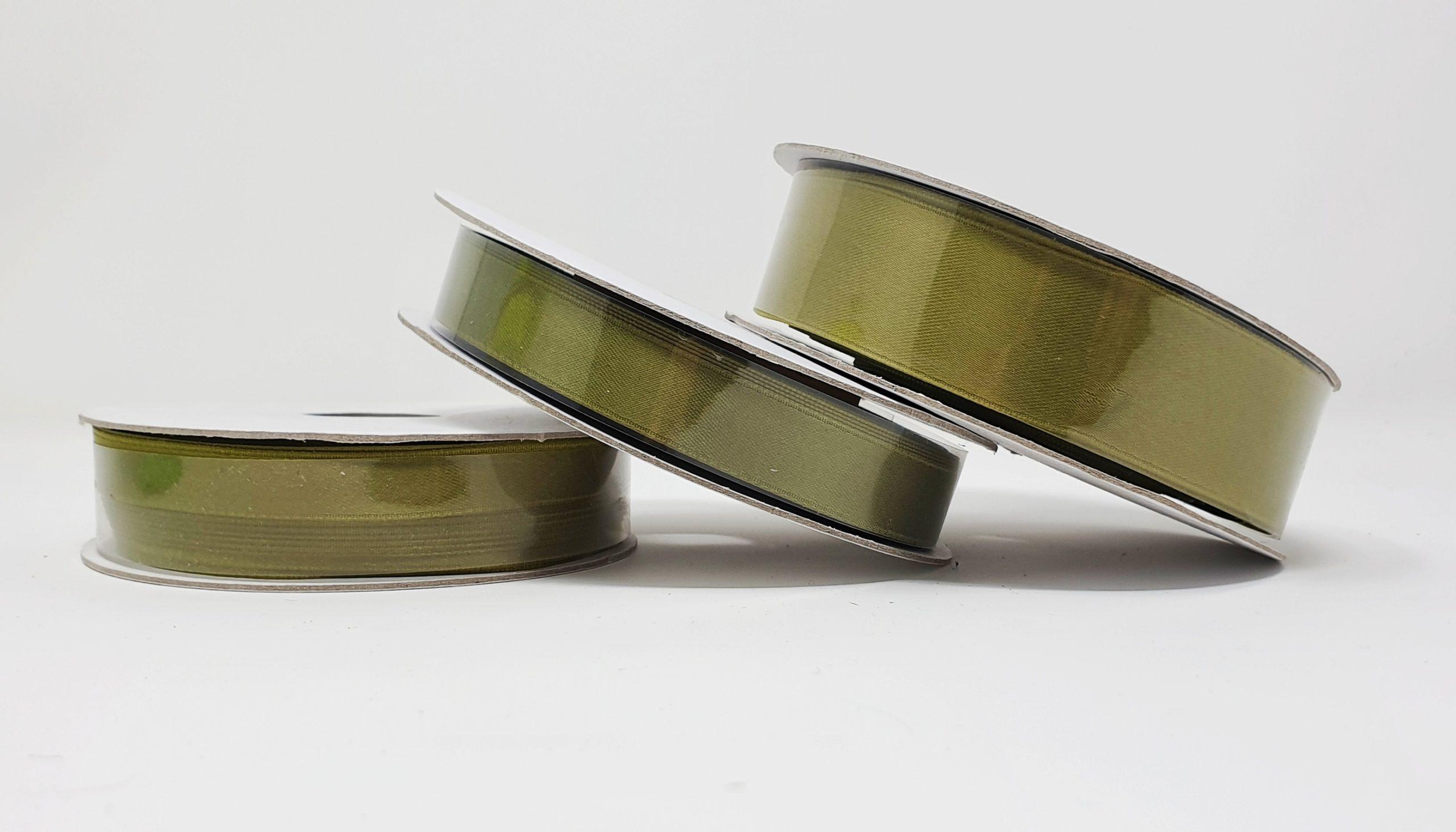 Ruban satin olive