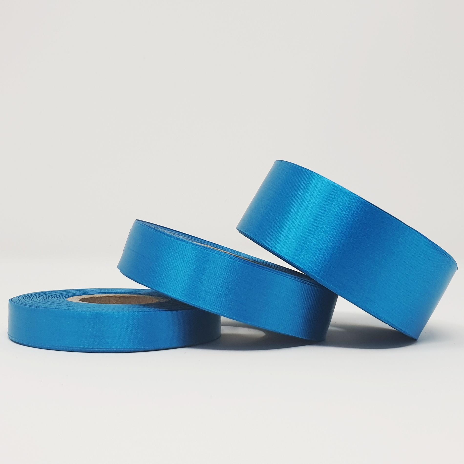 Ruban soie bleu electrique