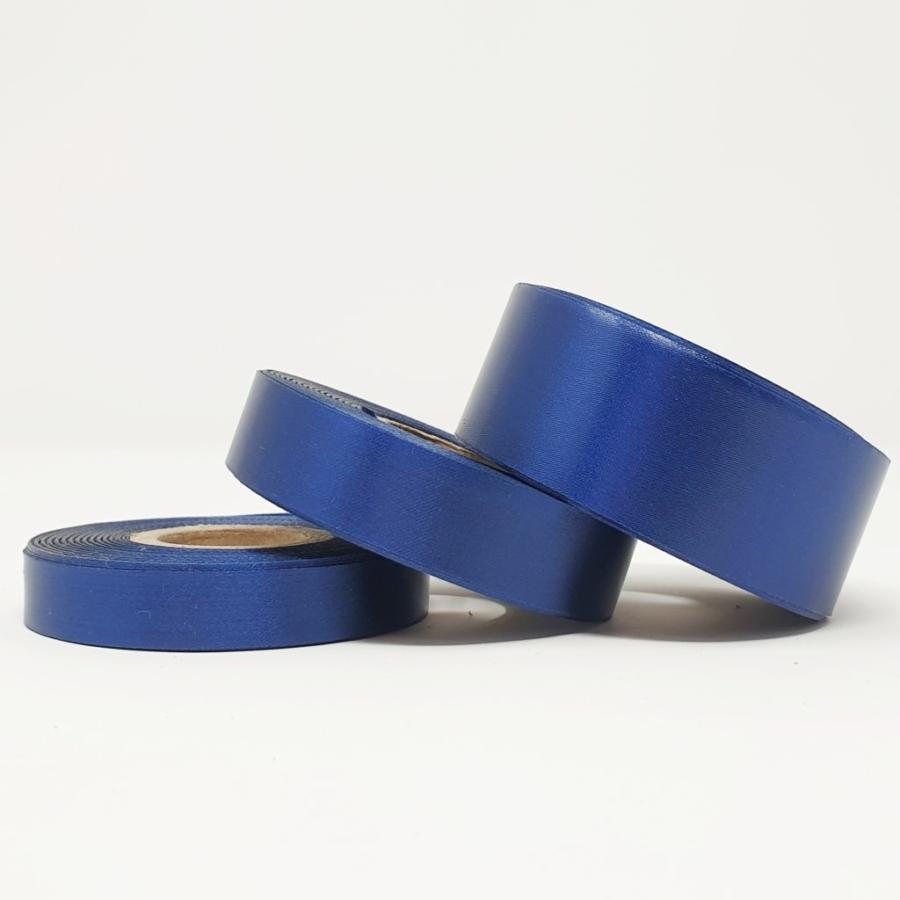 Ruban soie bleu nuit