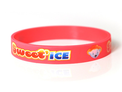 Bracelet silicone avec marquage quadri