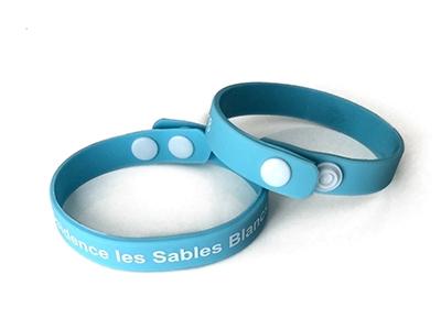 Bracelet silicone réglable avec clip