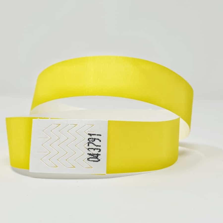 Bracelet identification tyvek