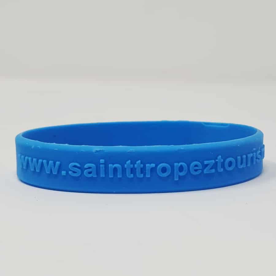 Bracelet silicone relief sans marquage