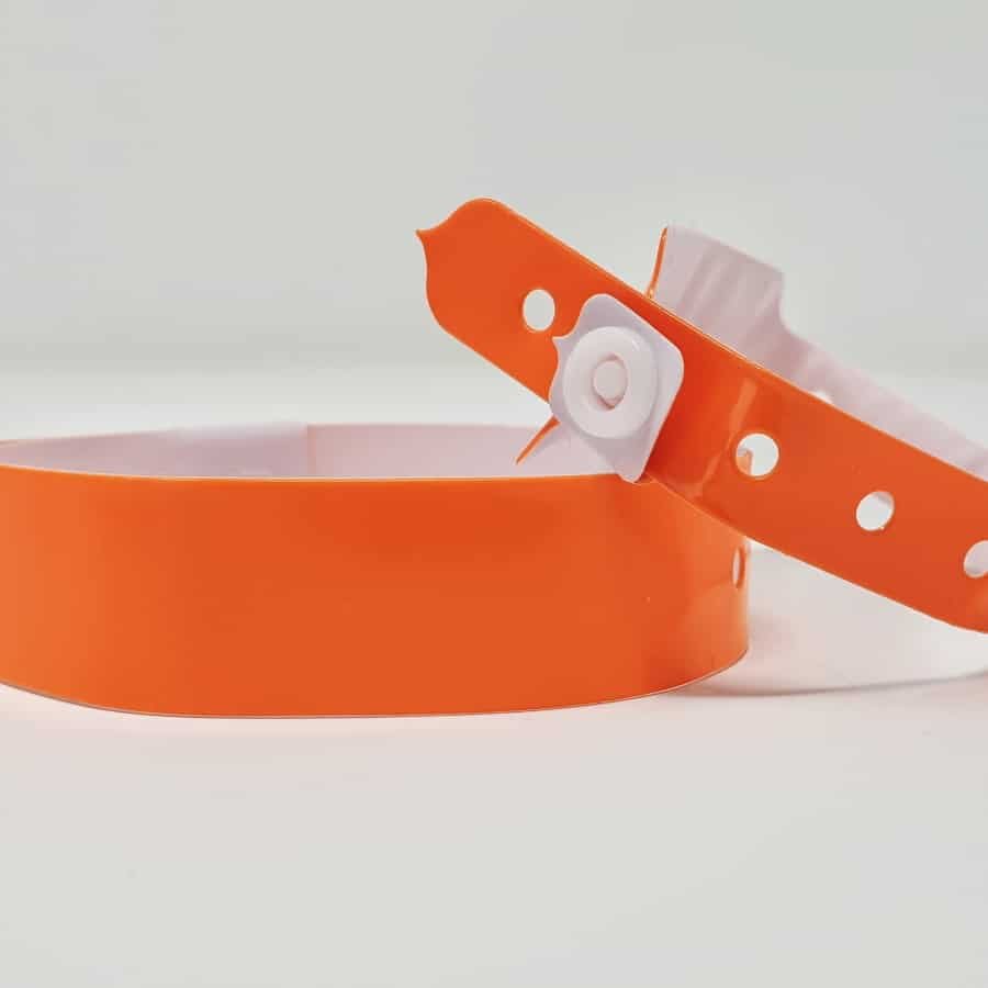 Bracelet vinyle orange sans marquage