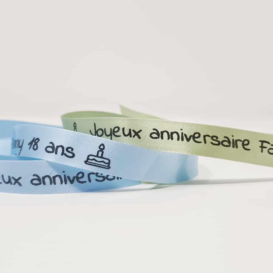 Ruban personnalisable anniversaire