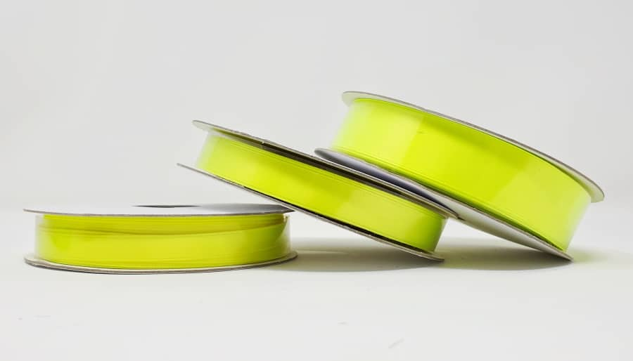 Ruban satin jaune fluo