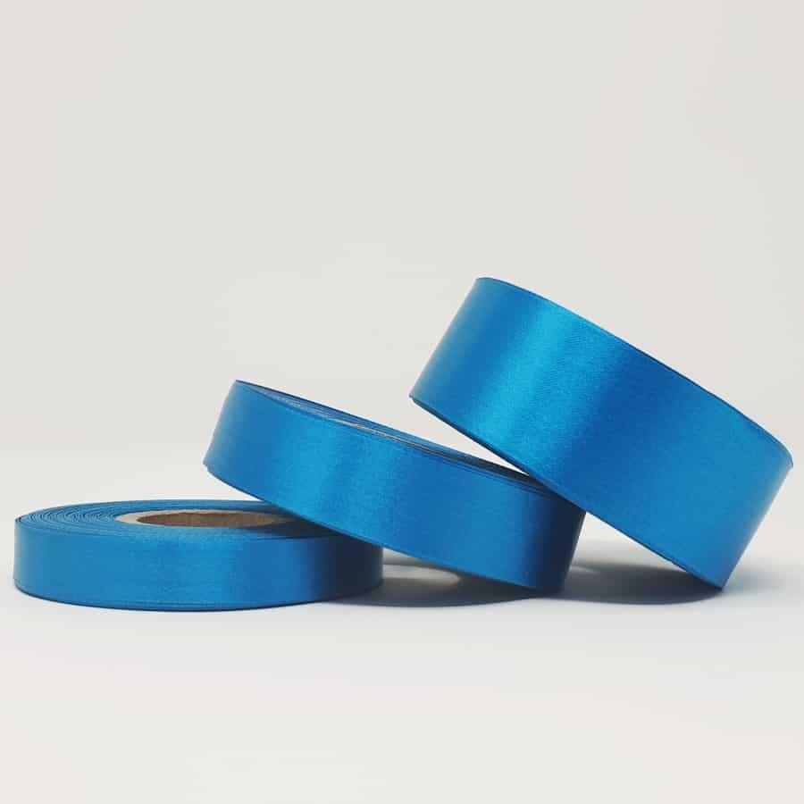 Ruban soie bleu électrique